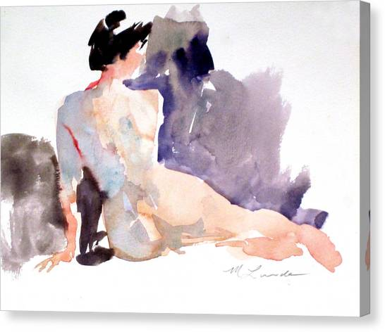 Five Minute Nude Canvas Print