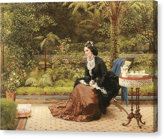 Coffee Plant Canvas Print - Five Oclock by George Dunlop Leslie