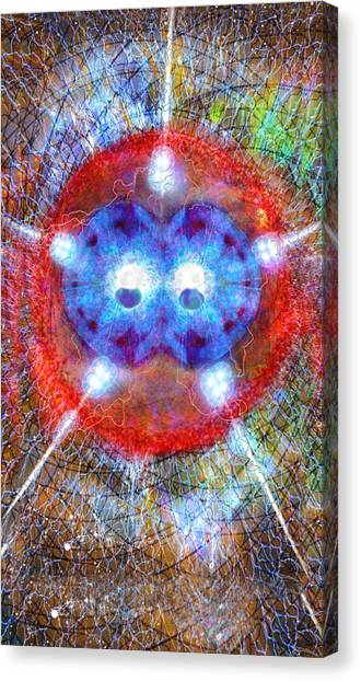 Five Of Wands/stars - Fusion - Artwork For The Science Tarot Canvas Print