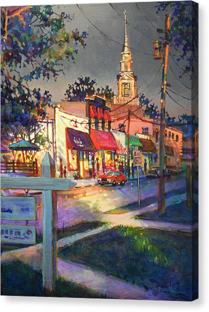 Five Points After Rain Canvas Print