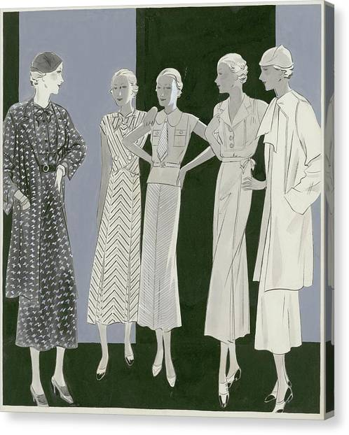 Five Women Canvas Print by William Bolin