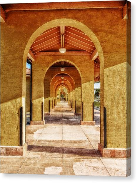 Historic 1927 Train Station - Venice Florida Canvas Print