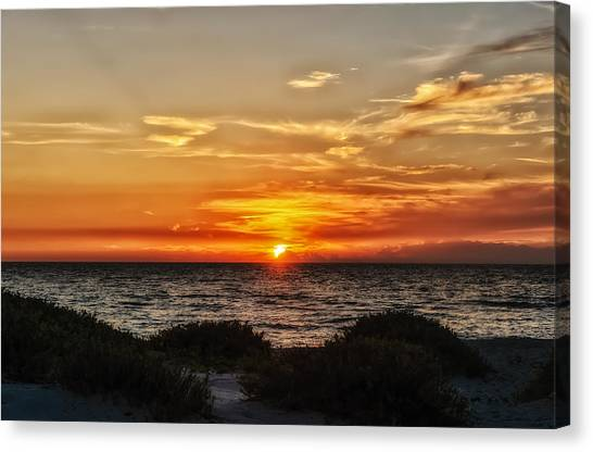 Southwest Florida Sunset Canvas Print - Sand Dune Sunset by Frank J Benz