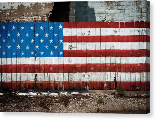 Flag Fence Canvas Print