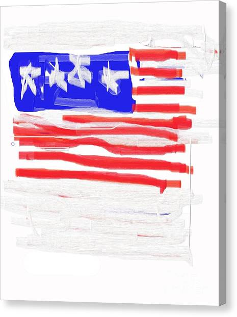 Flag Canvas Print by Jay Manne-Crusoe