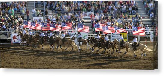 Flag Line Canvas Print