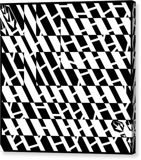 Flag Of Greece Maze  Canvas Print by Yonatan Frimer Maze Artist