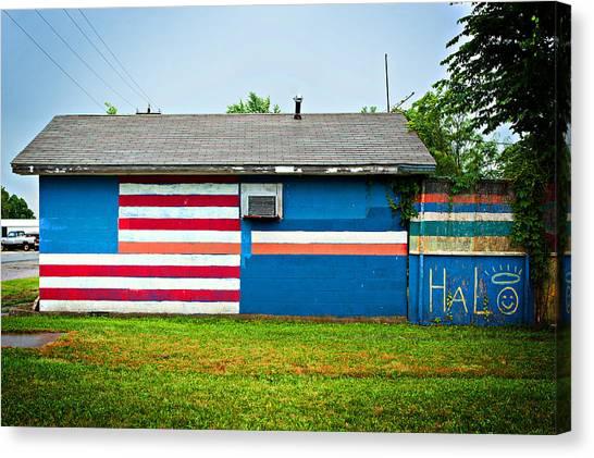 Flag Wall Canvas Print