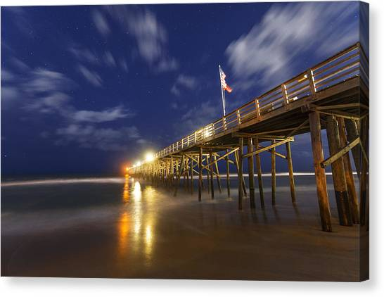 Flagler Beach Canvas Print - Flagler Pier by Dustin  LeFevre