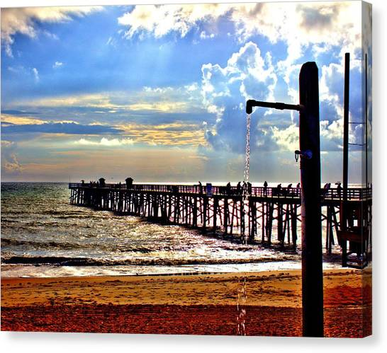 Flagler Pier Heaven Canvas Print
