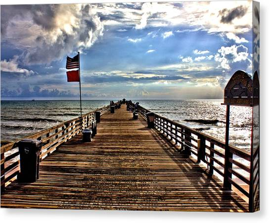 Flagler Pier Canvas Print