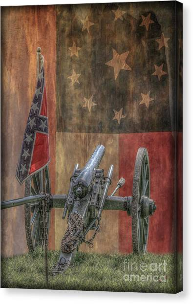 Confederate Army Canvas Print - Flags Of The Confederacy by Randy Steele