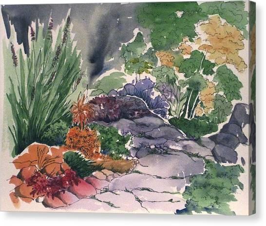 Flagstone Path Canvas Print by Renee Goularte