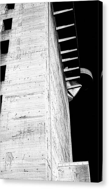 Flak Tower Vienna Side View Canvas Print