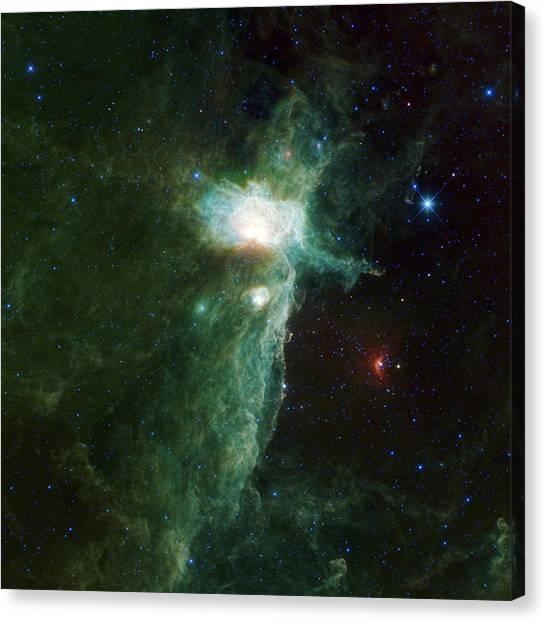 Astrology Canvas Print - Flame Nebula by Adam Romanowicz