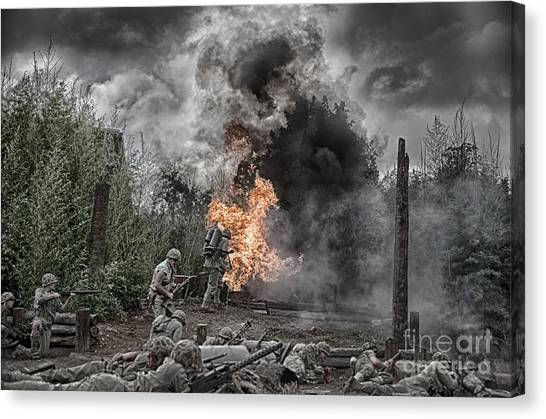 Flame Of Victory Canvas Print
