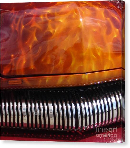 Flame Rod 1 Squared Canvas Print