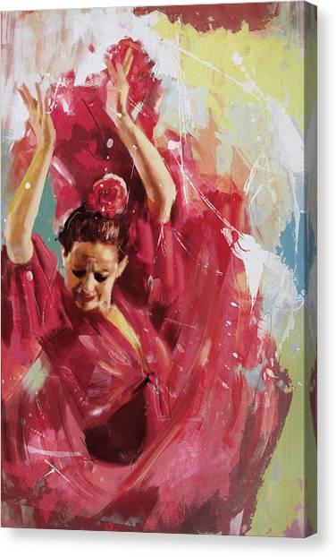 Tango Canvas Print - Flamenco 34 by Maryam Mughal