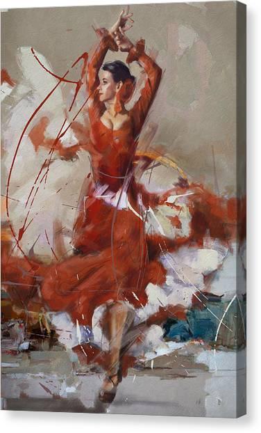 Salsa Canvas Print - Flamenco 37 by Maryam Mughal