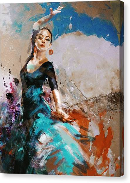 Salsa Canvas Print - Flamenco 42 by Maryam Mughal