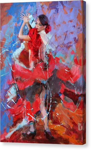 Salsa Canvas Print - Flamenco 48 by Maryam Mughal