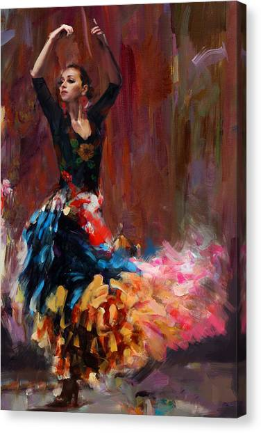 Salsa Canvas Print - Flamenco 50 by Maryam Mughal