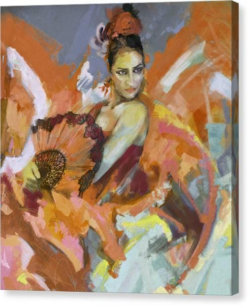 Salsa Canvas Print - Flamenco 51 by Maryam Mughal