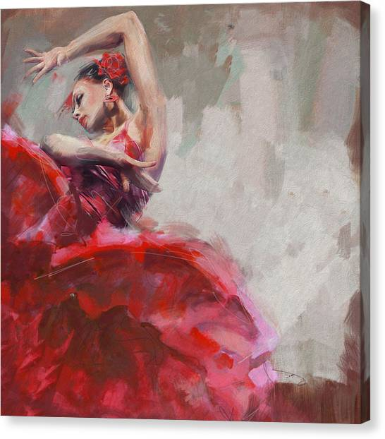 Tango Canvas Print - Flamenco 53 by Maryam Mughal