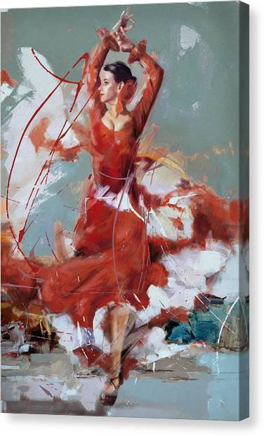 Tango Canvas Print - Flamenco 55 by Maryam Mughal