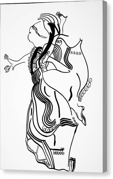 Gloria Canvas Print - Flamenco Dance by Gloria Ssali