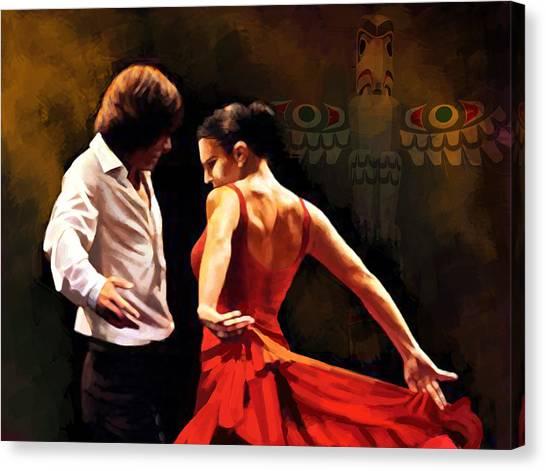 Salsa Canvas Print - Flamenco Dancer 012 by Catf