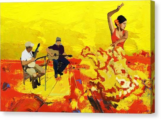 Salsa Canvas Print - Flamenco Dancer 018 by Catf