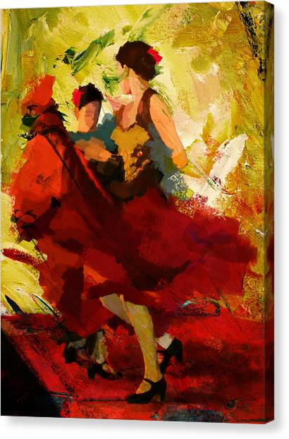 Salsa Canvas Print - Flamenco Dancer 019 by Catf