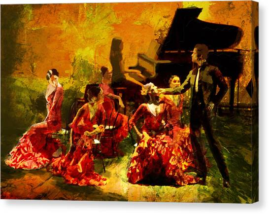 Submission Canvas Print - Flamenco Dancer 020 by Catf