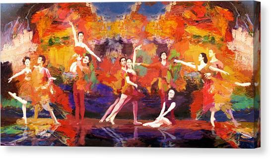 Salsa Canvas Print - Flamenco Dancer 022 by Catf