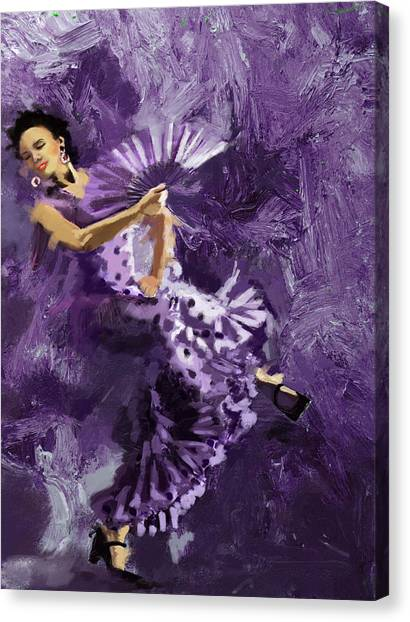 Salsa Canvas Print - Flamenco Dancer 023 by Catf