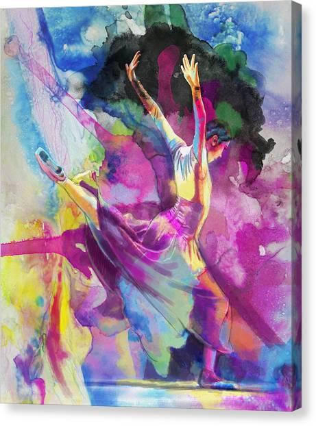 Tango Canvas Print - Flamenco Dancer by Catf