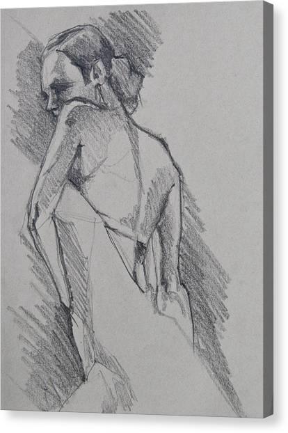 Flamenco Dancer Sketch Canvas Print