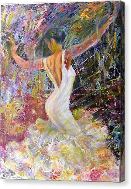 Flamenco Dancer Canvas Print