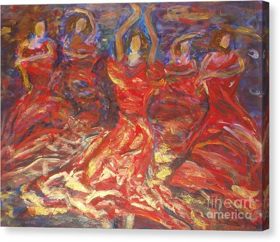 Flamenco Dancers Canvas Print