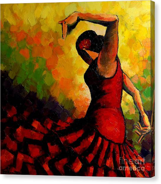 Flamenco Canvas Print - Flamenco by Mona Edulesco