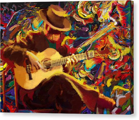 Catf Canvas Print - Flamenco Guitarist by Corporate Art Task Force