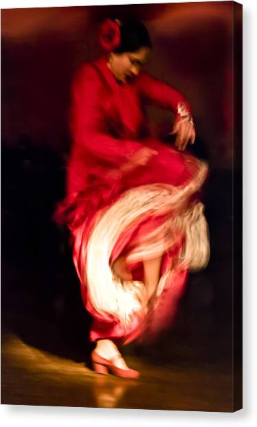 Flamenco Series 1 Canvas Print