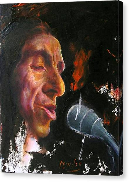 Flamenco Singer 1 Canvas Print