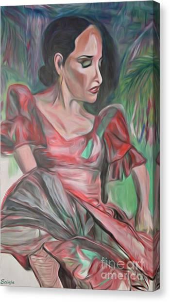 Flamenco Solo Canvas Print