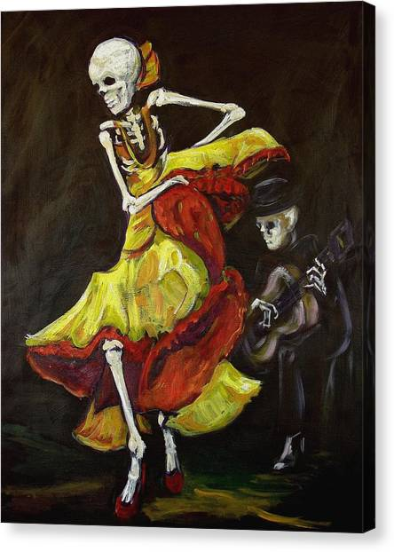 Flamenco Canvas Print - Flamenco Vi by Sharon Sieben