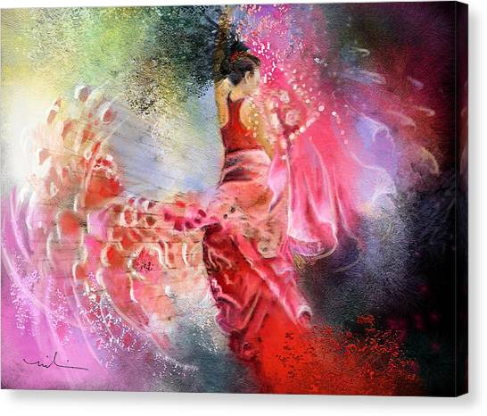 Flamencoscape 13 Canvas Print