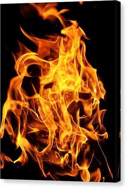 Flames Canvas Print - Flames by Clay Pritchard