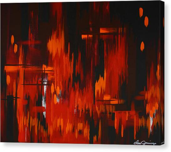 Flames Of Passion Canvas Print