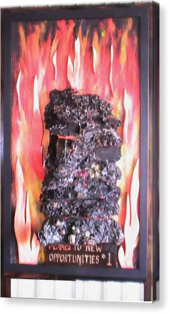 Flames To New Opportunities #1 Canvas Print by Tanna Lee M Wells